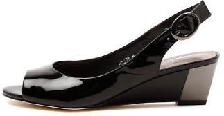 Django & Juliette New Raite Black Womens Shoes Dress Sandals Heeled