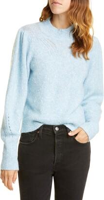 Rebecca Taylor Optic Nep Balloon Sleeve Sweater
