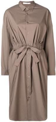 KNOTT cinched waist shirt dress