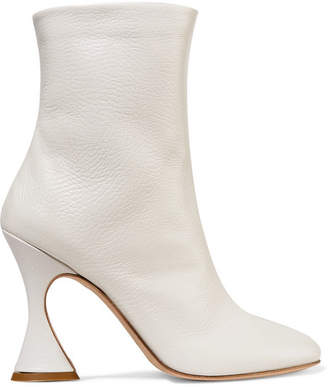 Off-White Sies Marjan - Emma Textured-leather Ankle Boots