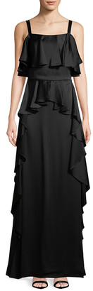 Temperley London Hippolyta Ruffle Maxi Dress