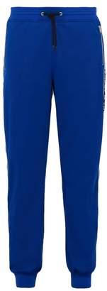 Givenchy Mid Rise Logo Jacquard Track Pants - Mens - Blue