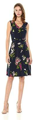 Tommy Hilfiger Women's Sleeveless fit and Flare Jersey Dress