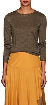 Barneys New York Women's Metallic Silk-Blend Sweater - Olive