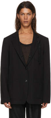 Ann Demeulemeester Reversible Black To Wonder And Begin Albert Jacket