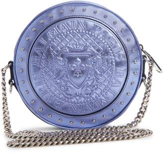 Balmain Renaissance Metallic Leather Crossbody Bag