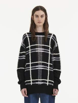 McQ Patched Tartan Check Sweater