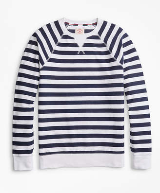Brooks Brothers Striped French Terry Sweatshirt