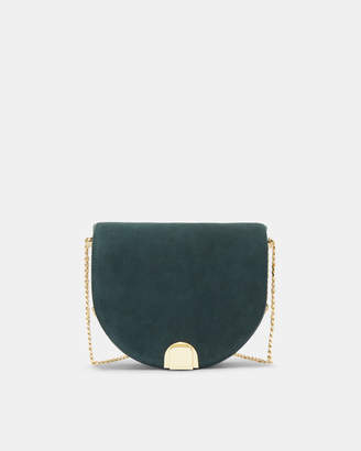 Ted Baker FLOSSI Mini suede moon cross body bag