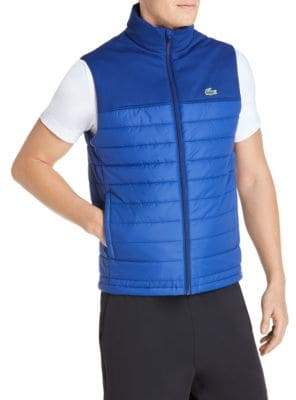 Lacoste Quilted Colorblock Puffer Vest