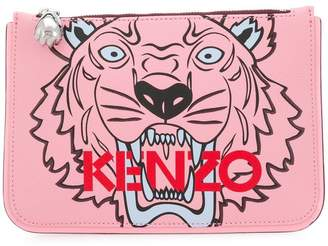 Kenzo Tiger printed clutch