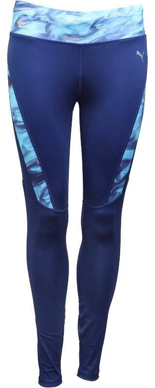 Damen DryCELL Grafik Lauf Leggins Blau