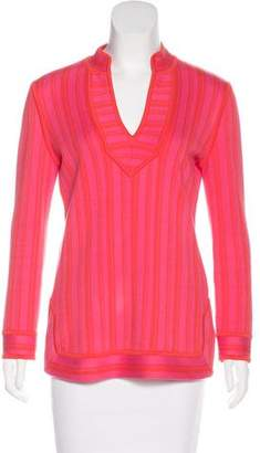 Tory Burch Striped Knit Tunic