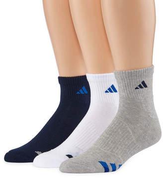 adidas 3-pk. Athletic Cushioned Quarter Socks