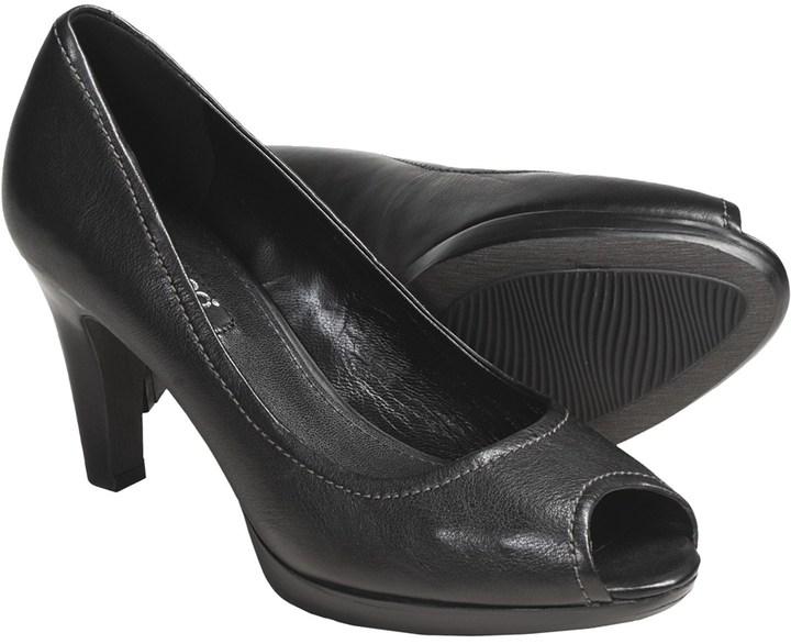 Ecco Keene Old West Peep Toe Pumps - Leather (For Women)