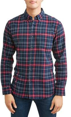 Lee Men's Long Sleeve Plaid Flannel Woven, Available up to size 2XL