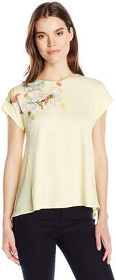 Desigual Women's Domingo Knitted Short Sleeve T-Shirt, Chamomile, L