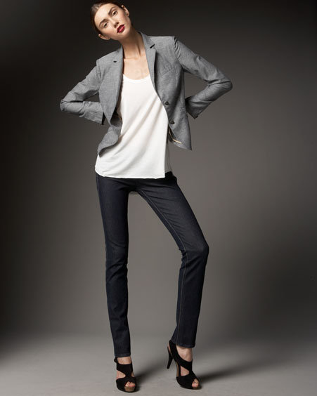 Rag & Bone Skinny Piped Blazer