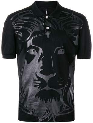 Versus lion print polo shirt