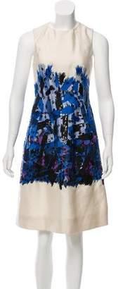 Lela Rose Wool Knee-Length Dress