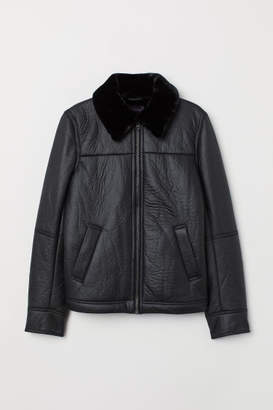 H&M Lined Biker Jacket - Black