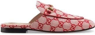 Gucci Princetown GG canvas slipper