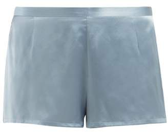 La Perla Silk Satin Pyjama Shorts - Womens - Light Blue 5c808ba24