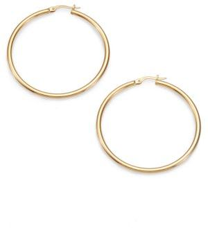 Roberto Coin 18K Yellow Gold Hoop Earrings/1.75