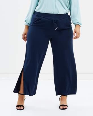 Evans Tie Front Wide Leg Pants