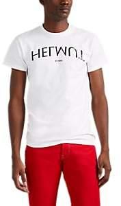 Helmut Lang Men's Logo-Print Cotton T-Shirt - White