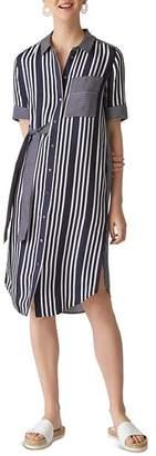 Whistles Multi-Stripe Shirt Dress