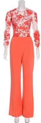 Murad Zuhair Silk-Blend Embroidered Jumpsuit