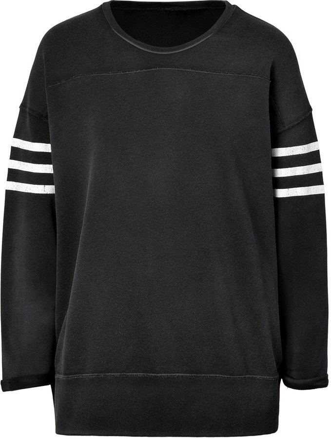 Iro Black/White Cotton Boxy Imani Sweatshirt