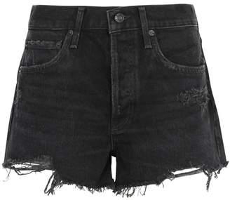 A Gold E Agolde AGOLDE Parker Distressed Denim Shorts