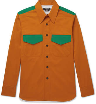 Calvin Klein Contrast-Trimmed Cotton-Gabardine Shirt