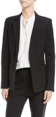 Derek Lam 10 Crosby Bowery Single-Button Stretch Twill Blazer