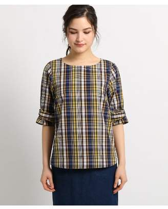 Dessin (デッサン) - Ladies [洗える][Lサイズあり]ブロードリボンスリーブプルオーバーシャツ