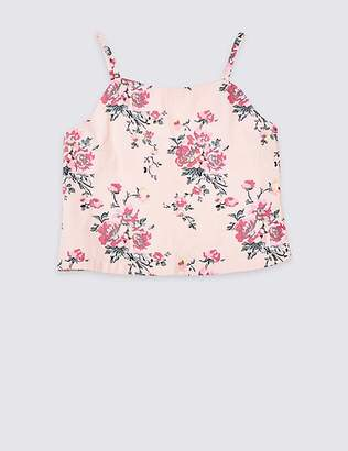 Marks and Spencer Pure Cotton Cropped Top (3-16 Years)