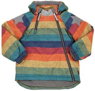 Molo Striped Print Nylon Ski Down Jacket