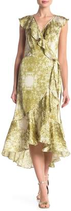 Max Studio Surplice V-Neck Print Maxi Dress