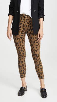 L'Agence Margot Spot Animal Print Jeans