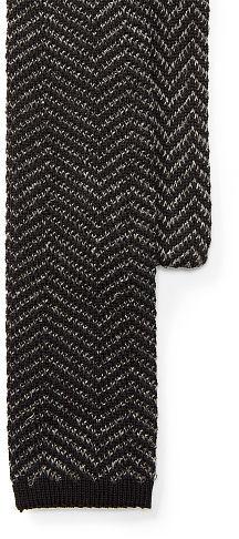 Polo Ralph LaurenPolo Ralph Lauren Zigzag Knit Linen-Cotton Tie