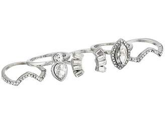 GUESS 5 Piece Dainty Stone Ring Set
