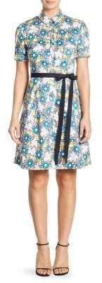 Carolina Herrera Daisy Button Front Dress