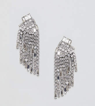 True Decadence silver rhinestone chandelier earrings