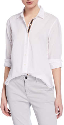 Velvet Nina Button-Down Long-Sleeve Cotton Blouse