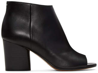 Maison Margiela Black Open-Toe Ankle Boots