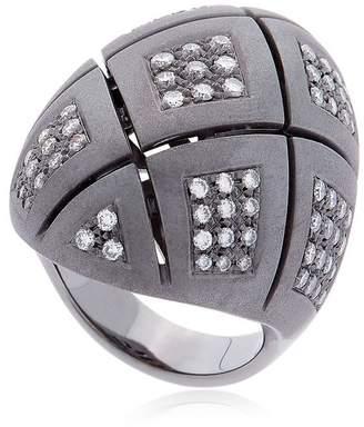 Vennari Novo Black Gold & Diamond Ring