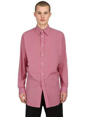 Raf Simons Cotton Poplin Shirt W/ Back Elastic Hem