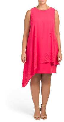 Plus Asymmetrical Hem Dress